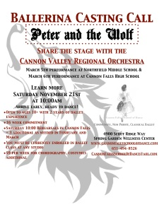 Peter and the Wolf Casting Call