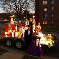 Nutcracker float with the Party Parents